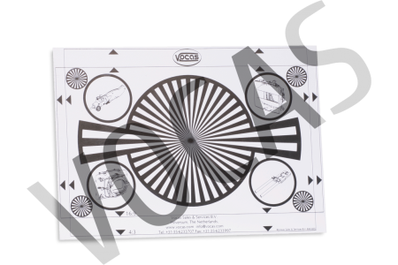 Backfocus / white card 297 x 210 mm A4