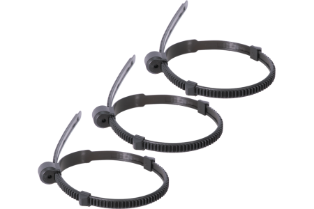 3 Pieces: Flexible gear ring, with 2 movable stops