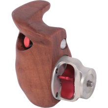 Wooden handgrip with switch (right hand)